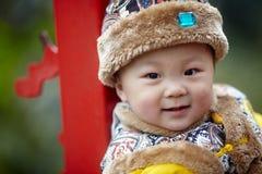 szczęśliwy dziecko śnieg Zdjęcia Stock
