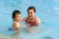 szczęśliwy dziecko basen Obraz Royalty Free