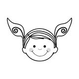 Szczęśliwy dziecko ikony wizerunek Obraz Stock