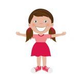 Szczęśliwy dziecko ikony wizerunek Obraz Royalty Free