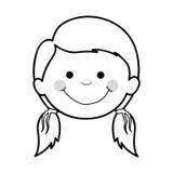 Szczęśliwy dziecko ikony wizerunek Zdjęcia Royalty Free