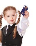 szczęśliwy dziecko karciany kredyt Obraz Royalty Free