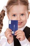 szczęśliwy dziecko karciany kredyt Obrazy Royalty Free