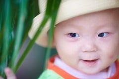 Szczęśliwy dziecko twarzy zbliżenie Obraz Stock