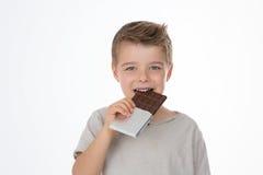 Szczęśliwy dziecko z jego deserem Obraz Stock