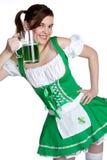szczęśliwy dziewczyna irlandczyk Obrazy Royalty Free