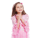 Szczęśliwy dziewczyny modlenie obraz stock