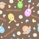 Szczęśliwy Easter bezszwowy wzór royalty ilustracja