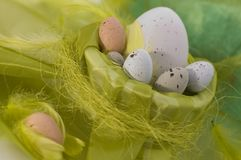 Szczęśliwy Easter - jajka obraz royalty free