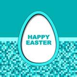 szczęśliwy Easter karciany jajko Zdjęcia Royalty Free