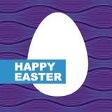 szczęśliwy Easter karciany jajko Fotografia Stock