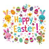 szczęśliwy Easter karciany powitanie ilustracji