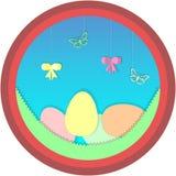 Szczęśliwy Easter kreskówki okręgu wizerunek ilustracja wektor