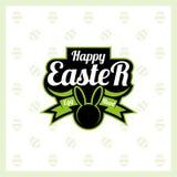 Szczęśliwy Easter logo Fotografia Royalty Free