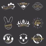 Szczęśliwy Easter logo Zdjęcia Stock
