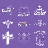 Szczęśliwy Easter logo Zdjęcie Royalty Free