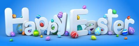 Szczęśliwy Easter tło z jajkami Fotografia Royalty Free