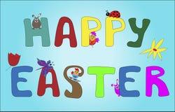 szczęśliwy Easter tekst ilustracji
