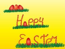 Szczęśliwy Easter Z królikiem i jajkami Obrazy Royalty Free