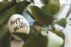 Szczęśliwy Easter znaczek na jajkach Zdjęcia Stock