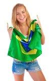szczęśliwy fan futbol Zdjęcie Stock