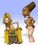 - szczęśliwy faraona posiedzenie królowej. Obrazy Stock
