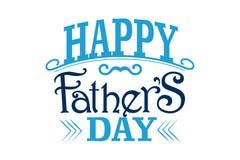 Szczęśliwy Father&-x27; s dnia znak Obraz Royalty Free