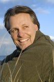 szczęśliwy forties mężczyzna Obrazy Royalty Free