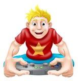 Szczęśliwy gamer Fotografia Stock