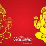 Szczęśliwy ganesh chaturthi festiwalu tło Obrazy Stock