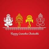 Szczęśliwy ganesh chaturthi festiwalu tło Zdjęcie Stock