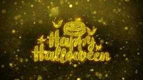 Szczęśliwy Halloween życzy powitanie kartę, zaproszenie, świętowanie fajerwerk
