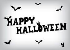 Szczęśliwy Halloween nietoperza tekst Fotografia Stock