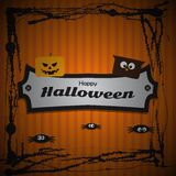 szczęśliwy Halloween plakat Obrazy Royalty Free