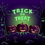 szczęśliwy Halloween plakat Fotografia Royalty Free