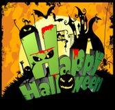 szczęśliwy Halloween typ Zdjęcia Royalty Free