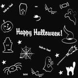 szczęśliwy Halloween wektor Zdjęcia Stock