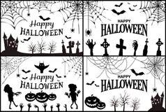 Szczęśliwy Halloween z ikona wektoru ilustracją Zdjęcia Royalty Free