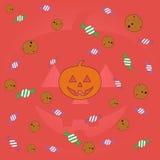 Szczęśliwy Halloween zieleni tło Obrazy Royalty Free