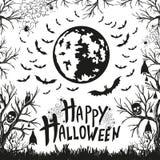 Szczęśliwy Halloween znak, ikony dla Halloween i ilustracja wektor