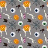 Szczęśliwy Halloweenowy bezszwowy wzór również zwrócić corel ilustracji wektora Obrazy Stock