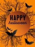 Szczęśliwy Halloweenowy ducha nietoperza ikony tło Zdjęcie Stock