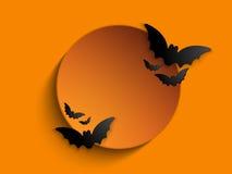 Szczęśliwy Halloweenowy ducha nietoperza ikony tło Zdjęcie Royalty Free