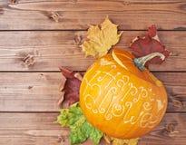 Szczęśliwy Halloweenowy dyniowy skład Obrazy Stock
