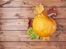 Szczęśliwy Halloweenowy dyniowy skład Obrazy Royalty Free