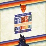Szczęśliwy Halloweenowy grungy retro tło Fotografia Royalty Free