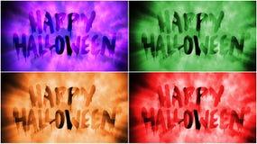 Szczęśliwy Halloweenowy koloru tekst na Mgłowym tle royalty ilustracja