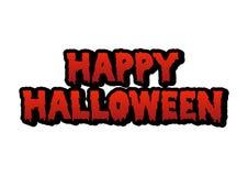 Szczęśliwy Halloweenowy Krwionośny tekst Fotografia Stock