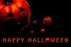 Szczęśliwy Halloweenowy plakat z kopii przestrzenią dla teksta zdjęcia stock