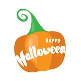 Szczęśliwy Halloweenowy pocztówkowy projekt Po prostu wektorowa ilustracja Zdjęcia Royalty Free